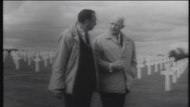 """Photo of CBS Reports (1964): """"D-Day Plus 20 Years – Eisenhower Returns to Normandy"""""""