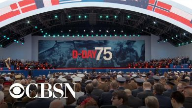 Photo of Trump attends D-Day commemoration in England
