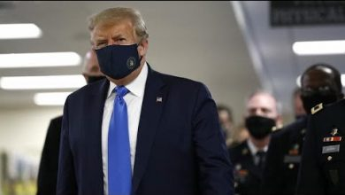 Photo of Donald Trump wears mask in public for first time during COVID-19 pandemic