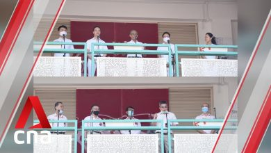 Photo of GE2020: PAP, NSP candidates for Tampines GRC address supporters on Nomination Day