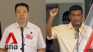 Photo of GE2020: PAP, RP candidates for Radin Mas SMC address supporters on Nomination Day