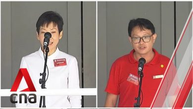 Photo of GE2020: PAP, SDP candidates for Yuhua SMC address supporters on Nomination Day