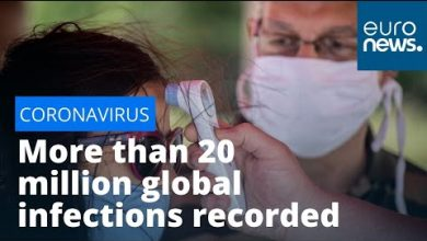 Photo of Rising Coronavirus cases: More than 20 million global infections recorded