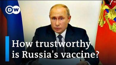 Photo of Russia's coronavirus vaccine: Is Putin taking 'a reckless step'?   DW News